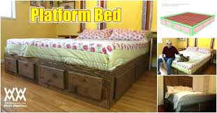 king size platform bed with drawers. Beautiful Platform Building A King Size Bed Frame With Drawers Platform  How To Build Extra Storage Underneath  And