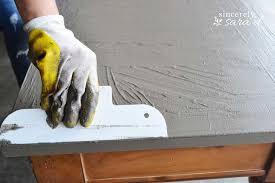 diy concrete table top, concrete masonry, diy, home decor, painted furniture