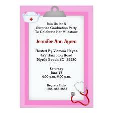 Nursing Graduation Party Invitations Surprise Nurse Graduation Party Invitation