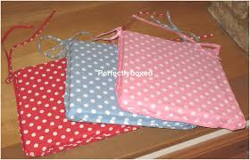 chair pad cushion inspire polka dot seat pads at perfectlyboxed com