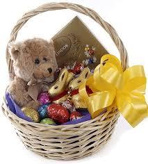easter eggs bear basket