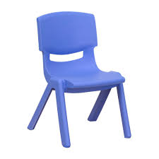 plastic school chairs. Plain Chairs Flash Furniture Blue Plastic Stackable School Chair With 105 In Seat  Height For Chairs Home Depot
