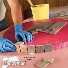 Diy Outdoor Tile Table Rustic Tile Coffee Table Diy Outdoor R
