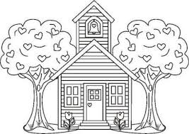 School House Coloring Pages Courtoisiengcom