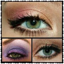 daytime although sepia and rust don t sound like the prettiest of colours these really make green eyes stand out and are great colours if you re looking