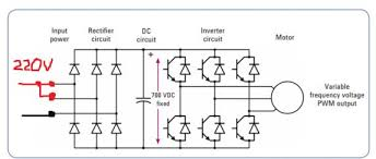 3 phase vfd circuit diagram 3 image wiring diagram is it possible to fool a 3ph input vfd into using 1ph input for on 3