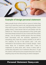 personal statement sample essays sample personal statement view larger