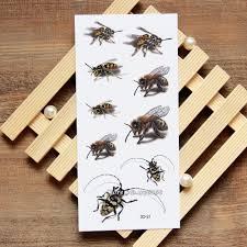 3d мед пчела временные татуировки наклейки временные татуировки боди арт флэш