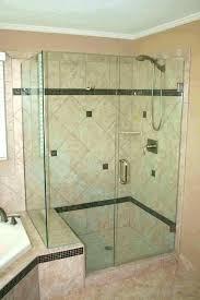best glass shower door cleaner glass shower door seal strip half