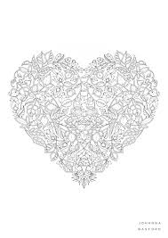 Small Picture Johanna Basford Valentines Colouring In JB Pinterest Johanna