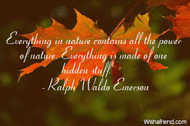 Ralph Waldo Emerson Quote Everything In Nature Contains All The Awesome Emerson Nature Quotes