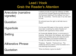 persuasive essay introduction  12 lead hook
