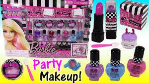 barbie fab doll tastic makeup party set lip gloss lipstick nail polish party bo kins