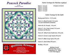Brewer Sewing - Peacock Paradise with Templates &  Adamdwight.com