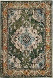 safavieh monaco forest green area rug 6 7 x 9 2