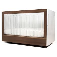 spot on square roh crib one sided acrylic  walnut  kindred