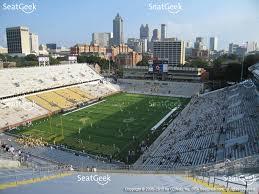 bobby dodd stadium section 211 view