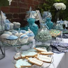 blue teddy themed baby shower