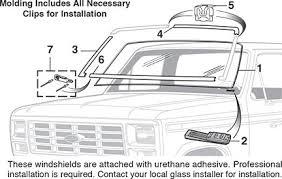 windshield glass 1980 96 f100 f150 f2501980 96 bronco lmc truck windshield glass