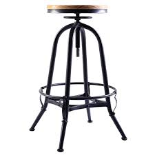 bar stools metal and wood. Costway Vintage Bar Stool Metal Frame Wood Topable Gooseneck Barn Light Adlxsv925 Stools Backless Archived On And