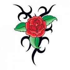 Dočasné Tetování Tribal Růže Poštovnézdarmacz