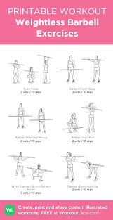 Weightless Barbell Exercises Printable Customworkout Bar