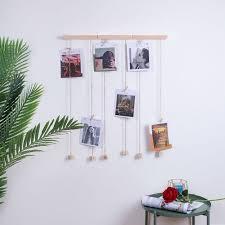 diy family photo display wall hanging