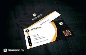 Professional Executive Class Business Card Template Sample