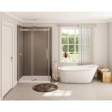 maax 60 in x 32 in white oval rectangle freestanding bathtub w reversible drain lowe s canada