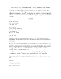 Best Photos Of Standard Employment Rejection Letter Job