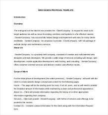 Design Proposal Sample Website Design Proposal Sample Doc