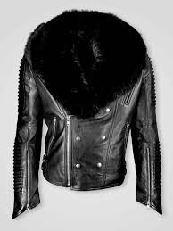 collar moto leather jacket for men real