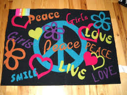 peace sign area rugs lovable live laugh love kitchen girls bedroom decor signs throw rug teen