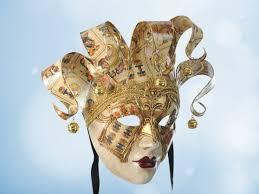 Card Masks To Decorate Venetian Joker Jester masks Mask Shop Venice 74