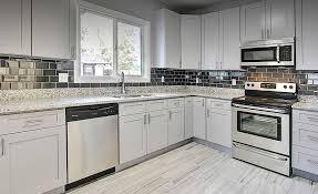 Grey Shaker Kitchen Cabinets Custom Kitchen Cabinets Stone