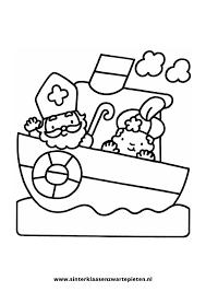Kleurplaten Sinterklaas Op De Stoomboot Ideeën Over Kleurpaginas