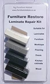 Furniture / Laminate / Kitchen Cabinet / Worktop Repair Soft Wax Filler Kit  Black, White