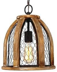 basket pendant light en wire farmhouse antique brown weave bamboo lamp