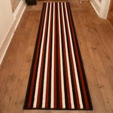 broad 8 red black cream hallway runner