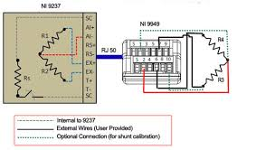 connecting a strain gage in a quarter bridge configuration to ni connection diagram for a quarter bridge strain gauge and the ni 9237 and ni 9949