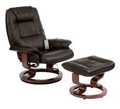 Restwell napoli swivel recliner <b>brown</b> leather effect <b>massage chair</b> ...