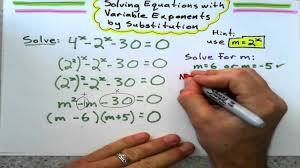 solving equations with variable exponents by substitution