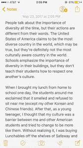 yelee yeti kimm twitter this was my diversity essay for my communications class but i thought it was relevent for apahm racism from something as simple as lunch pic twitter com