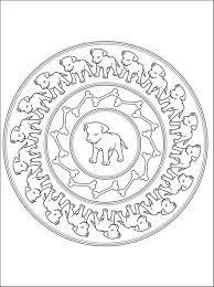 Animal Mandala Coloring Pages : Woof Mandala Coloring Pages ...