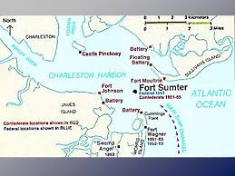 「1861 Fort Sumter location」の画像検索結果