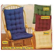 padded rocking chair cushion set beige home kitchen