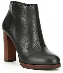 Gb Wynd Up Leather Platform Booties