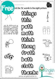 See our extensive collection of esl phonics materials for all levels, including word lists, sentences, reading passages, activities, and worksheets! Th Sound Words Worksheets Free Www Kaash Us Englishsafari