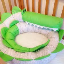 Baby crib bumper CROCODILE Pillow Handmade Baby Bed ...