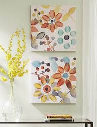 assorted multi color sweet floral canvas wall art on watercolor floral wall art with 2 piece multi color sweet floral canvas wall art rc willey